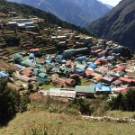View down to Namche
