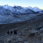 Early morning climb of Kala Patthar peak (5550m).